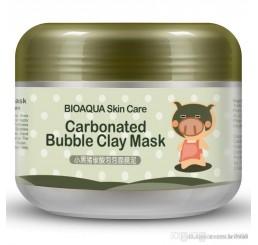 Очищающая пузырьковая маска BioAqua  Carbonated Bubble Clay Mask, 100гр.(глубокое очищение и насыщение кислородом)