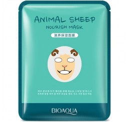 маска для лица BioAqua Animal Face - Sheep, 30g.