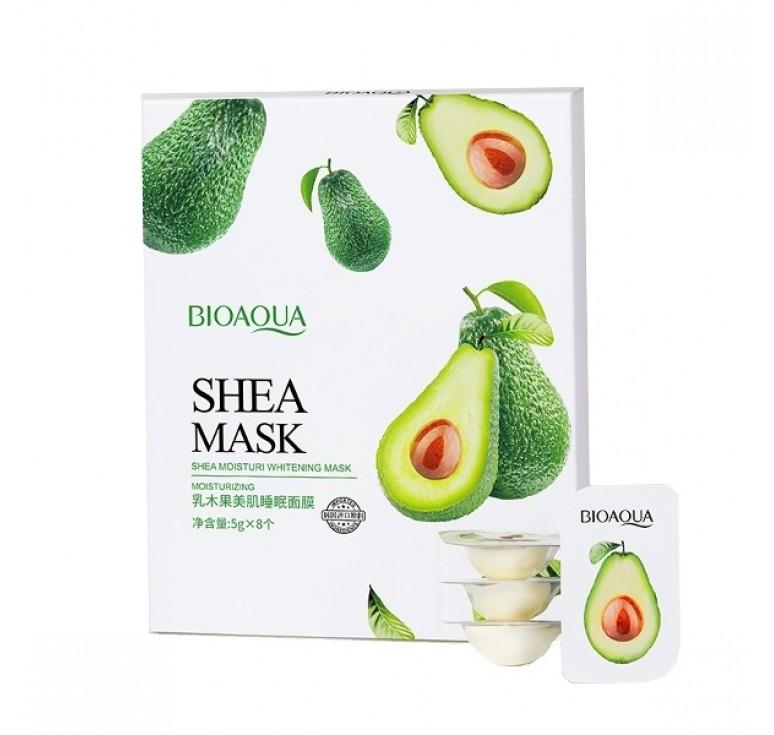 Питательная шелковистая ночная маска с экстрактом авокадо Bio SHEA MASK  стик 5гр.