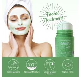 Глиняная маска стик для глубокого очищения и сужения пор с экстрактом зеленого чая